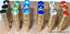 "18 Jewel Crystal Metal Cribbage Pegs for 1/8"" holes - 6 Colors - 3 of each Color"