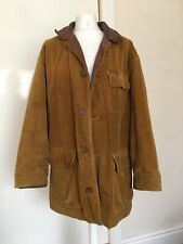 Marlboro Classics Medium Brown Chore Cord Jacket Plaid Wool Lining VTG 90s 2000s