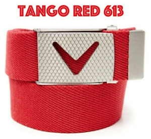 Callaway Golf Apparel Mens Webbed Chev Belt (Tango Red) OSFM