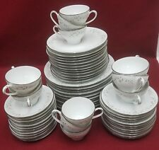 NORITAKE china ANNABELLE 6856 59-piece SET SERVICE for 12 dinner salad bread