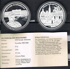 Medaille: Österreich Schloss Schönbrunn 20g 999er Silber,Silbermedaille [10645