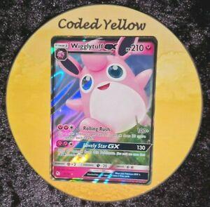 42/68 Wigglytuff GX |  Hidden Fates Pokémon SM TCG | HALF ART Card | New Mint
