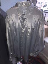 "Mens Shirt Silk Stunning Shiny Silver (satin look) 19"" BNWOT ✅"