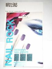 NAIL ROCK Designer Nail Wraps NR015NS Cyan Velvet Leopard Skin - Made in UK- NEW