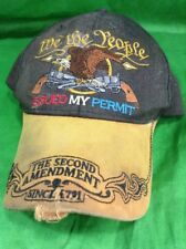We The People Distressed 2nd Amendment Gun Rights Control Hat Strapback Cap