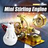 Modello Motore Stirling Aria Calda Generatore Educativo Giocattolo E LED Light