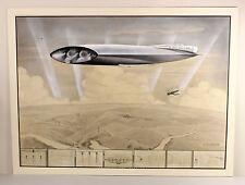 c1933 | FINLEY AEROCRUISER | ORIGINAL watercolour gouache | futuristic AIRSHIP