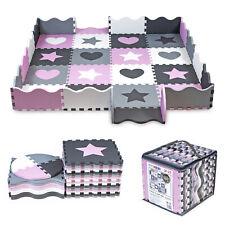 Puzzlematte Spielmatte Spielteppich Kinderteppich Nestchen Nest 52-tlg mit Rand