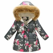 Winter Girls Jacket Cotton-Padded Girls Clothes Children Jacket Kids Outerwear
