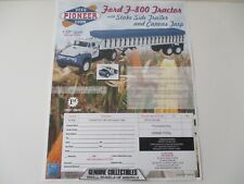 First Gear FORD F-800 TRACTOR+STAKE SIDE TRAILER+CANVAS TARP COLOR ORDER FORM