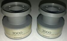 lot of 2 used Shimano Sedona 2000 FA Spinning Reel part spare spool gray