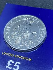 More details for queens beasts black bull of clarence bunc £5 coin  lovely rare coin
