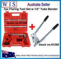 7 piece Flaring Kit Pipe Cutter & Spring Tube Benders & 1/2'' Pipe Bender Tool