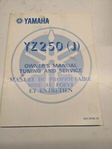 Original Yamaha OEM Owner Service Manual Shop Book 1981 YZ250(J) 5X5-28199-70