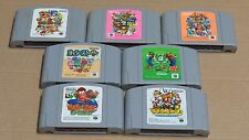 7 x Japón Juegos Mario Party de Nintendo 64 1 2 3 Golf historia Diddy Kong Racing Yoshi