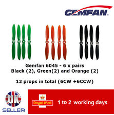 "Gemfan Propellers Quad Props 6"" 6045 x12 6 Pairs MixedQAV 250 Racer FPV UK"
