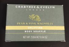 CRABTREE & EVELYN PEAR & PINK MAGNOLIA UPLIFTING BODY SOUFFLÉ 8.64 OZ NEW BOXED