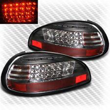 For 1997-2003 Pontiac Grand Prix LED Black Tail Lights Rear Brake Lamp Pair