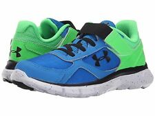 Under Armour Non Tie  Boys Sneakers Blue/Laser Green/Blk  Childs Size  12 1/2