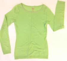 Lilly Pulitzer wmns sz XS Lime Green cashmere LS scoop neck sweater EUC