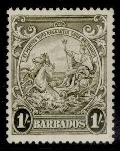 BARBADOS GVI SG255a, 1s deep brown-olive, M MINT.