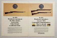 1971 Print Ad Winchester Centennial NRA Commemorative Lever Action Rifles