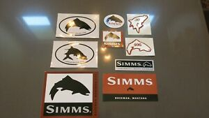 Vintage Simms Fishing Products Sticker Pack