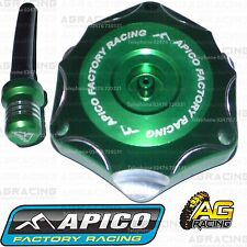 Apico Green Alloy Fuel Cap Vent Pipe For Kawasaki KX 125 2007 Motocross Enduro