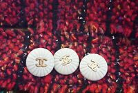 3 Vintage Chanel buttons 3 pieces   metal cc 0,7 inch 17 mm  😍😘👍