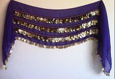 Oversize Belly Dance Hip scarf Wrap Belt Waist Chain, 500 Coin .
