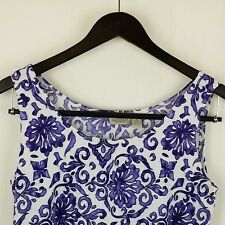 Easy Wear By Chico's Camisole Stretch Tank Top Cami Size 1 Medium Purple White