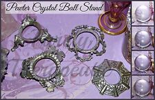 1x Crystal Ball Stand Butterfly Celtic Fancy Pewter