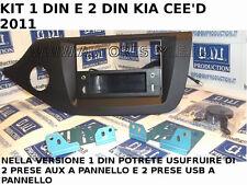 SET PANEL 1 DIN CAR RADIO WITH 2 AUX E 2 USB PANEL FOR KIA CEED 2011