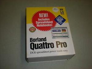 """Borland Quattro Pro Software with Manuals and 3-1/2"""" Floppy Disks"""