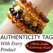 Authentic BALTIC AMBER ADULT BRACELET natural