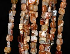 10MM FLOWER OPAL GEMSTONE GRADE AA BROWN PERFECT SQUARE 10MM LOOSE BEADS 15.5""