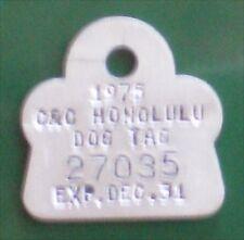 1975 Hawaii Dog License Tag in original wrapper retro new mint