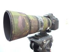 Nikon 70 200mm f4 Lente Protección Camuflaje Abrigo de Neopreno VR Cubierta: Verde Camuflaje