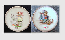 2 - Goebel Hummel Collector Plates 1974, 75, Mint w/ Boxes