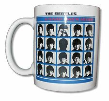 "THE BEATLES ""HARD DAY'S NIGHT"" WHITE CERAMIC COFFEE MUG COLLECTIBLE NEW NIB"