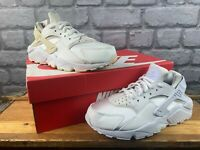 NIKE LADIES HUARACHE SATIN LEATHER ALL WHITE TRAINERS VARIOUS SIZES RRP £70 T