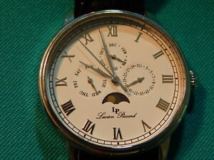 Lucien Piccard 10527 Moubra Watch Sub-Dials - Running Perfect With New Battery