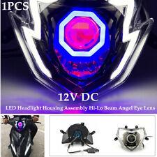 Motorcycle LED Headlight Housing Assembly Hi-Lo Beam Spotlight Front Light DC12V