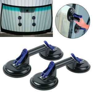 2x Dual Suction Cup Pad Lifter 105 kg Sucker Plate Glass Tile Lifter Puller UK