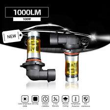 2x Yellow H8 H9 H11 LED Fog DRL Driving Lights 3000K 100W For HondaPilot L-Beam