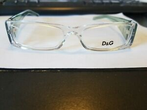 New Authentic Dolce & Gabbana DG 1147 COLOR 747 CLEAR/GREEN 50mm Eyeglasses RX