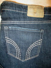 Hollister Venice Boot Stretch Juniors Womens Dark Blue Jeans Size 3 S x 31 Mint