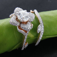 Real 10K Rose Gold 3 Ct Diamond Engagement Ring Wedding Band Bridal Set