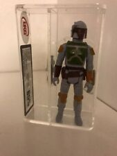 1979 STAR WARS LOOSE UKG 85 - VINTAGE tri-logo boba fett Painted Knee