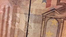 REPUBBLICA ITALIANA 50 EURO J051C1 FILO DI SICUREZZA DA 100 ERRORE DI STAMPA FDS